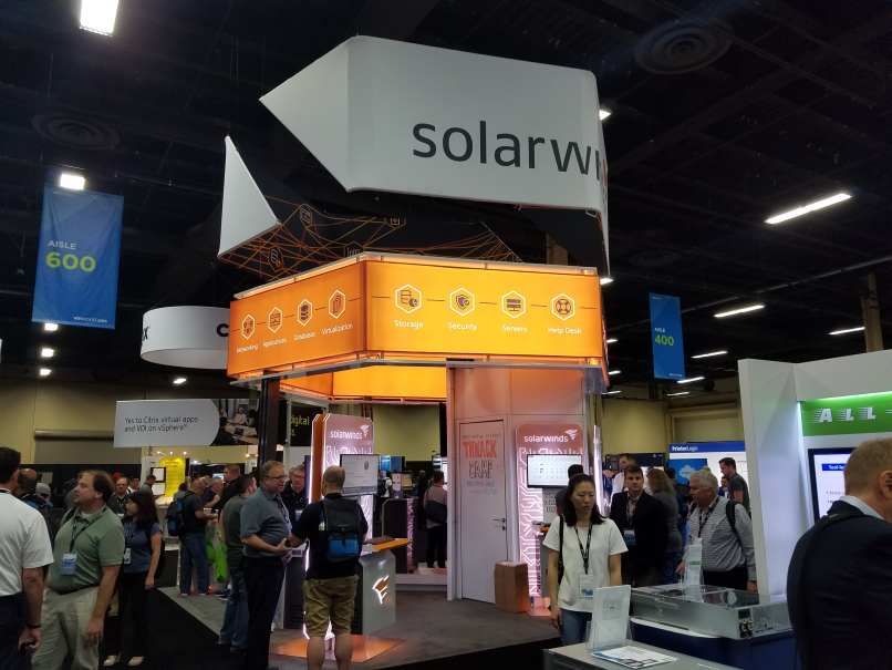 SolarWinds had a big presence at VMworld this year