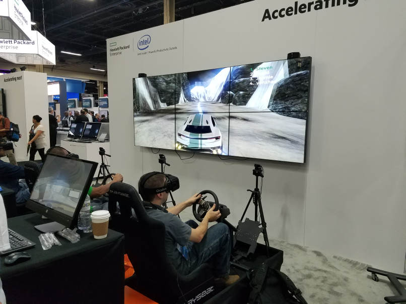 HPE tests your racing skills  against other attendees