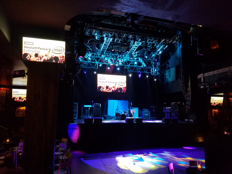 Inside the House of Blues lower level, didn't realize it was that big, Zerto ThunDRstruck party was here also
