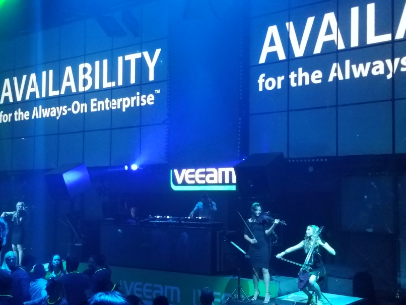 The epic Veeam party at The Light night club inside Mandalay Bay