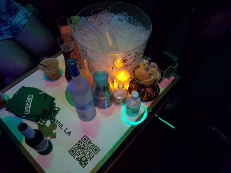 Bottle service ftw at the Veeam party, thank you Veeam!