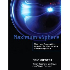 Maximum vSphere book by Eric Siebert