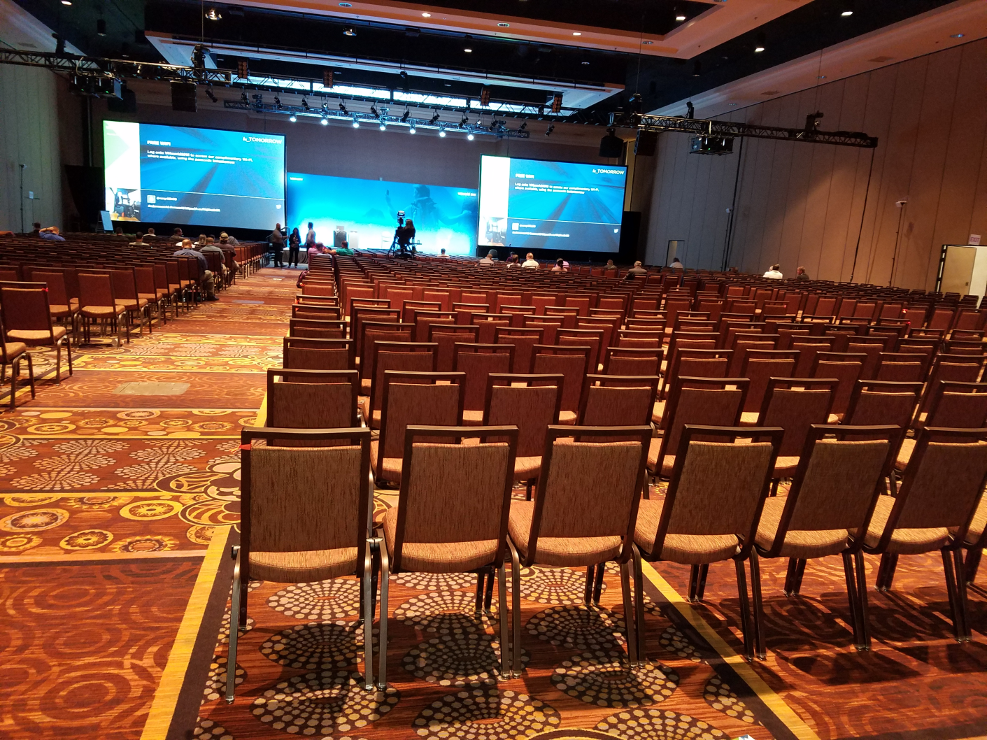 Checking out my room for my VVols breakout session, damn thats big room