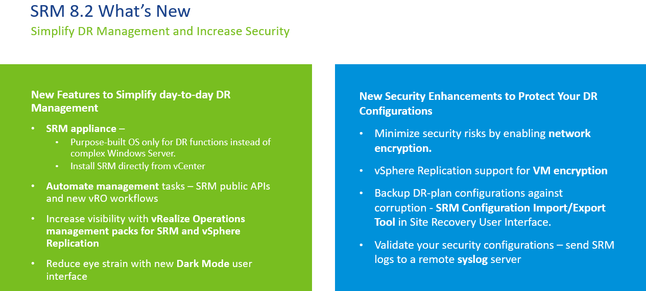 VMware releases new Photon OS based SRM appliance » Welcome to