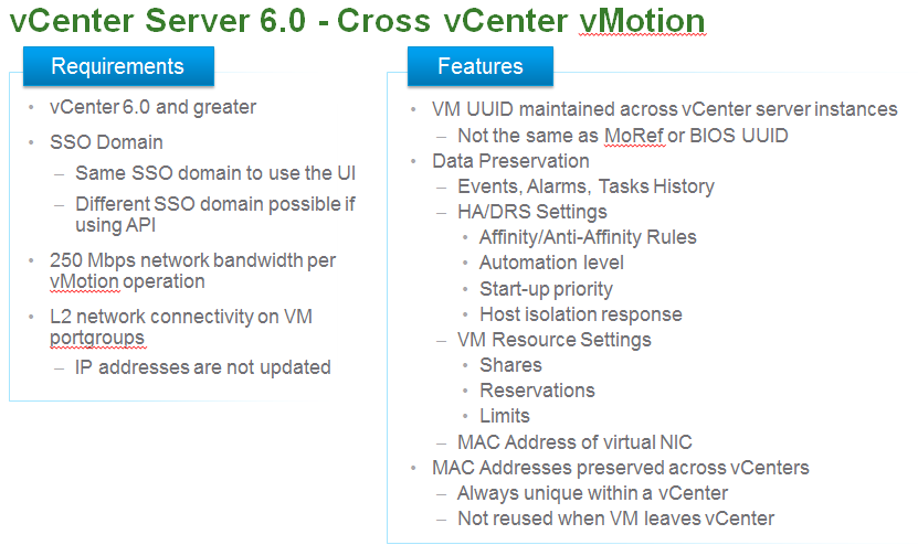 Cross vCenter vMotion